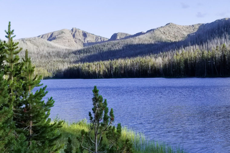 Mountain and waters of Yellowstone State Park.